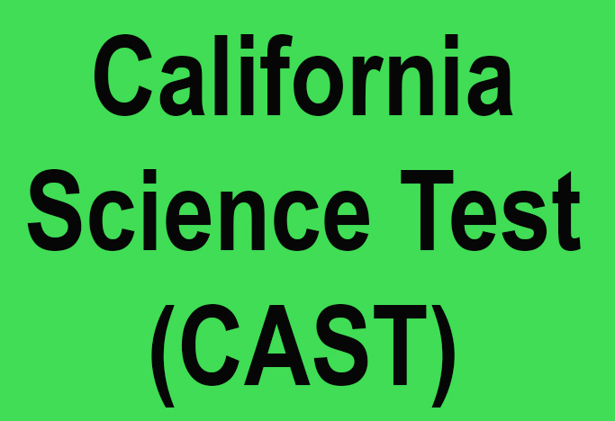 Students take the California Science Test (CAST)