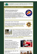 Picture of first page of enewsletter