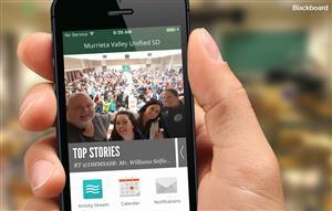 hand holdling smartphone showing app