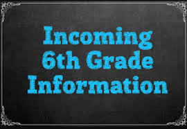 Incoming 6th Grade Dates