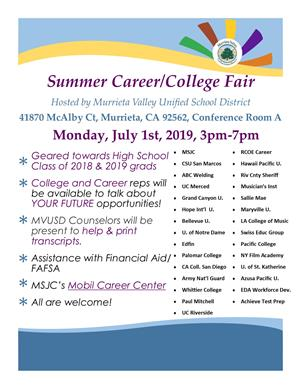 Summer College and Career Fair