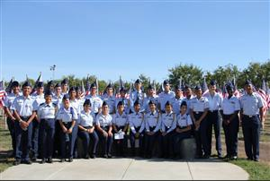 GROUP OF VMHS JROTC CADETS AT FIELD OF HONOR