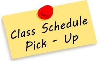 Class Schedule Pick Up / Registration Information