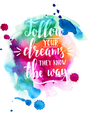 Follow Your Dreams Illustration