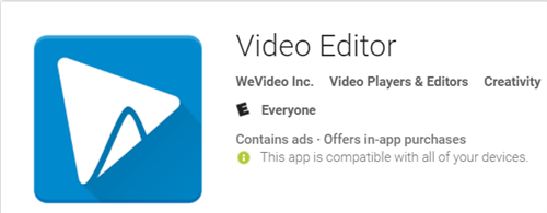 Video Editor WeVideo, Inc Video Players & Editors Logo