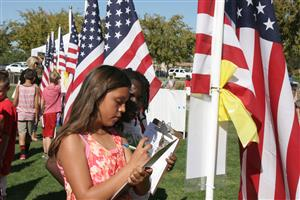 Students at Field of Honor