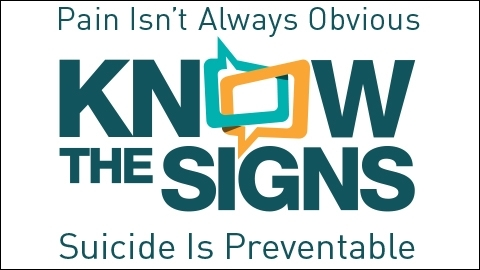 Know The Signs Suicide is Preventable