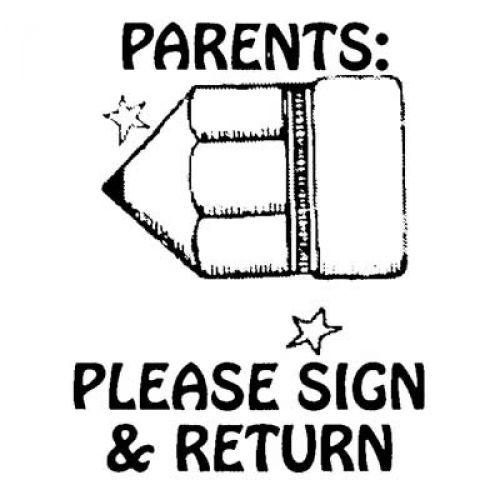 please sign and return with pencil