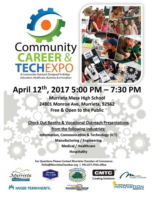 Community Career Tech Expo Flyer