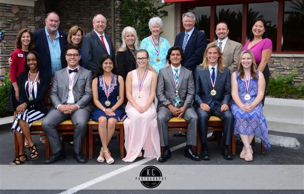 Students of the Year shown with local dignitaries