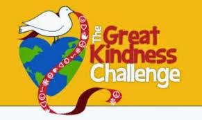 Kindness Challenge logo with dove of peace and a heart-shaped world