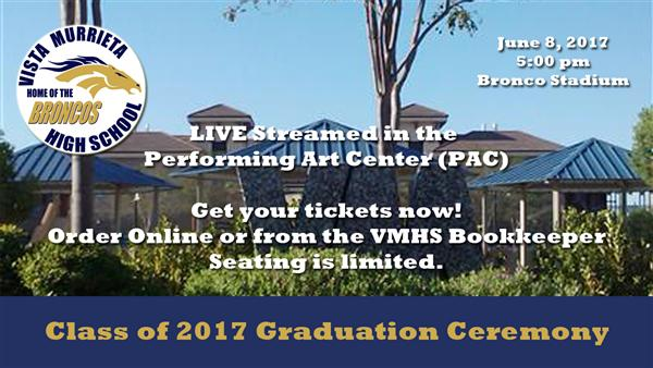Click here to view Graduation Ceremony Ticket information