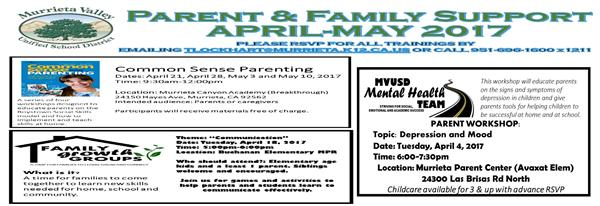 Parent and Family Support Trainings