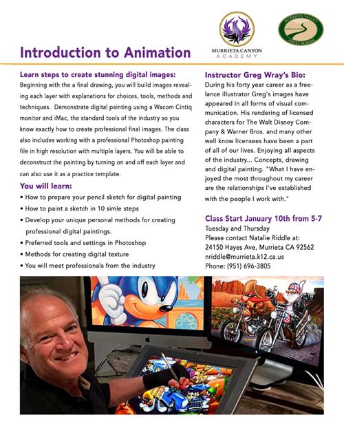 Introduction to Animation course