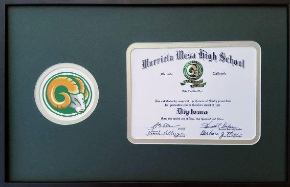 Image of Diploma Frame for MMHS