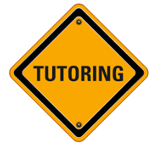 Image of a sign with the word tutoring on it