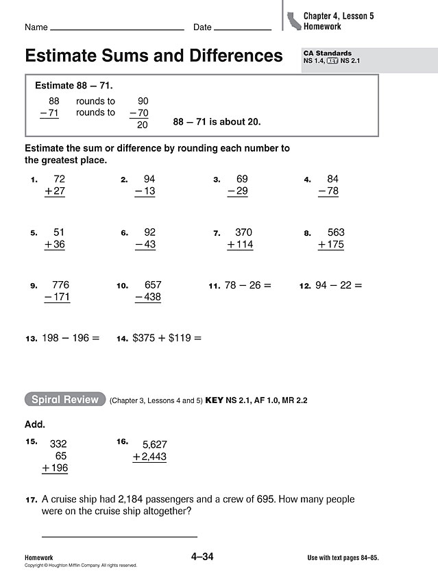 Best Homework For 3rd Grade Images - Printable Math Worksheets ...