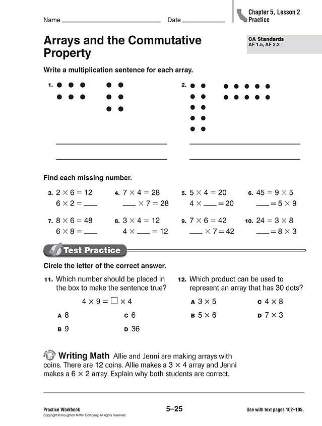 2nd Grade Math Worksheets Multiplication